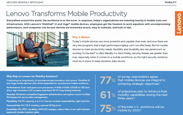 LENOVO DEVICES SPOTLIGHT BROCHURE: MOBILITY