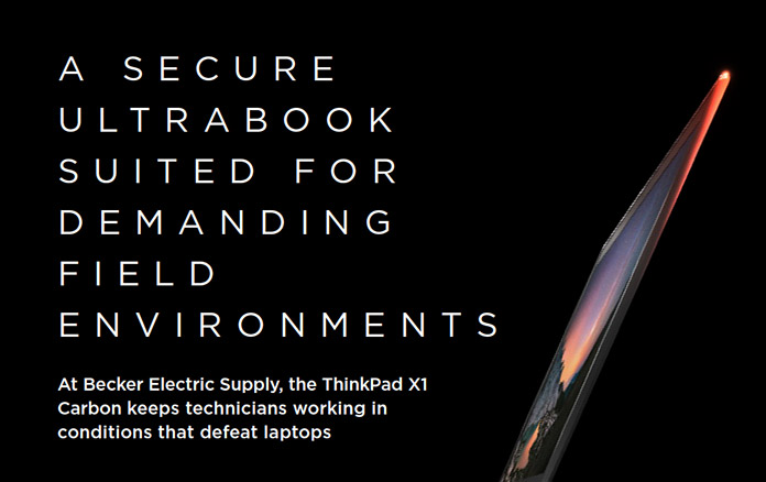 Lenovo CaseStudy: A Secure Ultrabook Suited For Demanding Field Environments